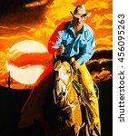 Classic Portrait Of A Cowboy O...
