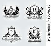 luxury logo | Shutterstock .eps vector #456098860