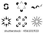 illusory contours. subjective... | Shutterstock .eps vector #456101923
