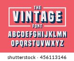 vector of vintage font and... | Shutterstock .eps vector #456113146