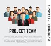 project team. employee group....   Shutterstock .eps vector #456118243