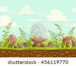 cartoon seamless nature... | Shutterstock .eps vector #456119770