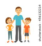 father with children. happy... | Shutterstock .eps vector #456132214