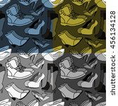 set of seamless pattern shoes... | Shutterstock .eps vector #456134128