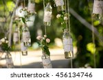 wedding decor  bottles with... | Shutterstock . vector #456134746