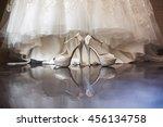 wedding  luxury bridal shoes... | Shutterstock . vector #456134758