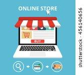 online store concept. set icons.... | Shutterstock .eps vector #456140656