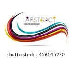 wavy glossy futuristic swirl  ... | Shutterstock . vector #456145270