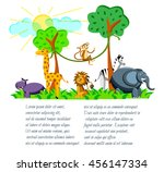 cute cartoon wild africa...   Shutterstock .eps vector #456147334