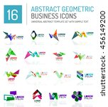 abstract geometric business... | Shutterstock . vector #456149200