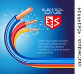 electrical supplies  copper... | Shutterstock .eps vector #456149914