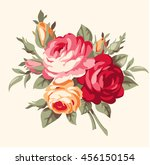 decorative bouquet of vintage... | Shutterstock .eps vector #456150154
