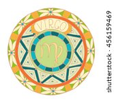 zodiac signs theme. black and... | Shutterstock .eps vector #456159469