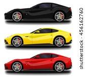 realistic sport car set.   Shutterstock .eps vector #456162760