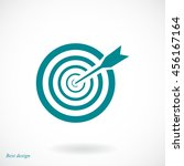 aim icon | Shutterstock .eps vector #456167164