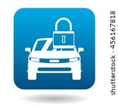 arrested car icon in simple... | Shutterstock .eps vector #456167818