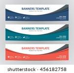abstract banner design... | Shutterstock .eps vector #456182758