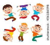 vector cartoon set of little... | Shutterstock .eps vector #456186598