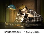 addicted curmudgeon sniffing... | Shutterstock . vector #456192508
