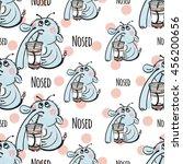 cute vector seamless pattern...   Shutterstock .eps vector #456200656