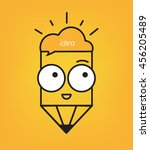 pencil with eyes the idea of... | Shutterstock .eps vector #456205489