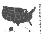 set of us states in the map of... | Shutterstock .eps vector #456205534