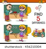cartoon illustration of finding ... | Shutterstock .eps vector #456210304