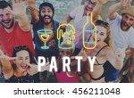party night life fun enjoy... | Shutterstock . vector #456211048