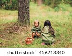 the small children walk in the... | Shutterstock . vector #456213340