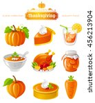 vector icon set with autumn and ... | Shutterstock .eps vector #456213904