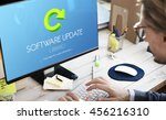 software update program digital ... | Shutterstock . vector #456216310
