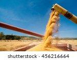 Threshing Machine Pouring The...