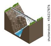 bridge over the river in the... | Shutterstock .eps vector #456217876