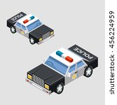 isometric police car in two... | Shutterstock .eps vector #456224959