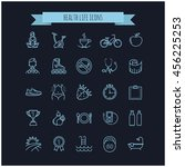 sport and healthy life icons... | Shutterstock .eps vector #456225253