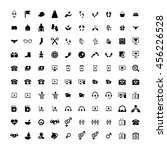 set of 100 universal icons.... | Shutterstock .eps vector #456226528