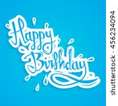 happy birthday greeting card... | Shutterstock .eps vector #456234094
