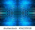 blue abstract cyber future... | Shutterstock .eps vector #456235018