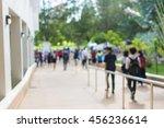 blurred image of people walking ... | Shutterstock . vector #456236614