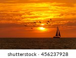 sailboat sunset fantasy is a... | Shutterstock . vector #456237928