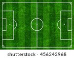 soccer field top view with... | Shutterstock . vector #456242968