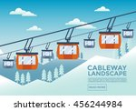 Cable Way Landscape Illustration