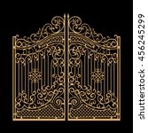 Decorated Steel Gates Vector...