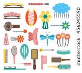 vector illustration with... | Shutterstock .eps vector #456245590