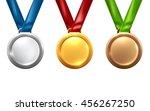 gold medal isolated on white... | Shutterstock .eps vector #456267250