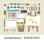art class vector illustration | Shutterstock .eps vector #456267694