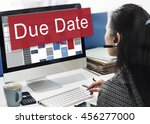 due date appointment deadline... | Shutterstock . vector #456277000
