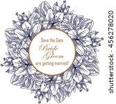 romantic invitation. wedding ... | Shutterstock . vector #456278020