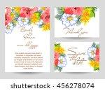 romantic invitation. wedding ... | Shutterstock .eps vector #456278074