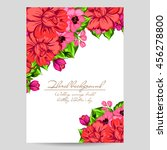 invitation with floral... | Shutterstock .eps vector #456278800